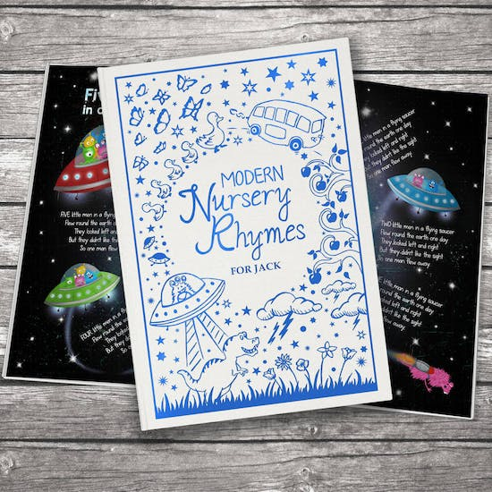 Personalised Book Of Modern Nursery Rhymes