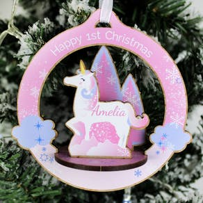 Personalised Make Your Own Unicorn Decoration