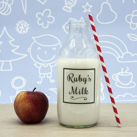 Personalised Milk Bottle And Straw