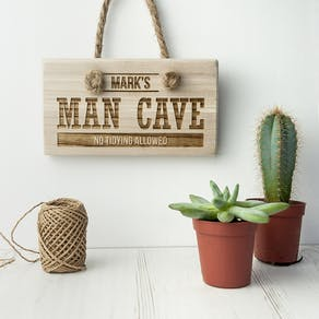 Personalised 'Man Cave' Wooden Sign