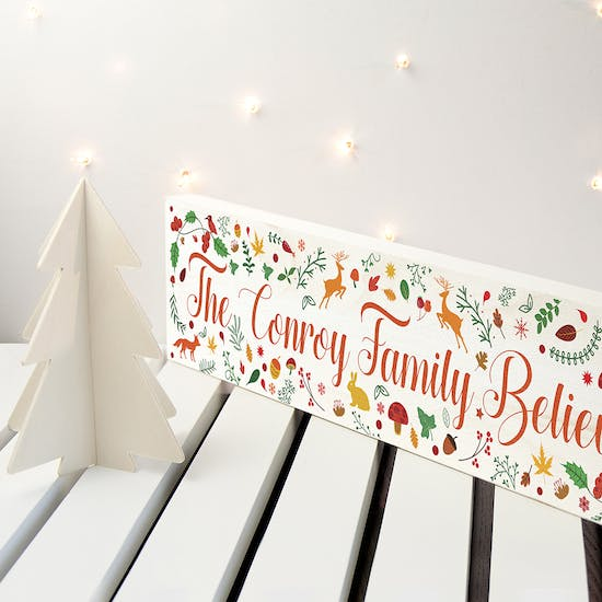 The wooden sign is the perfect accessory for your mantlepiece, hallway or shelves.