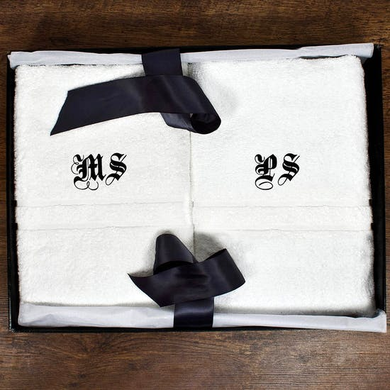 Personalised Monogram Luxury Towel Set
