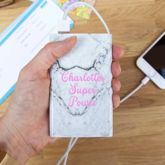 Personalised Marble Design Power Bank