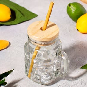 Personalised Mason Jar And Bamboo Straw