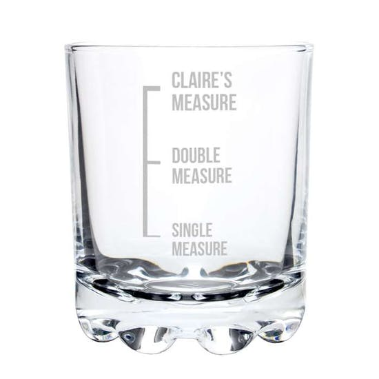 Personalised Measures Design Glass