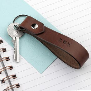 Personalised Message Leather Keyring