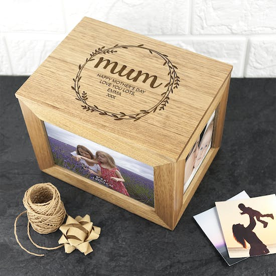Personalised Mother's Day Photo Cube Keepsake