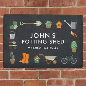 Personalised Metal Gardening Sign