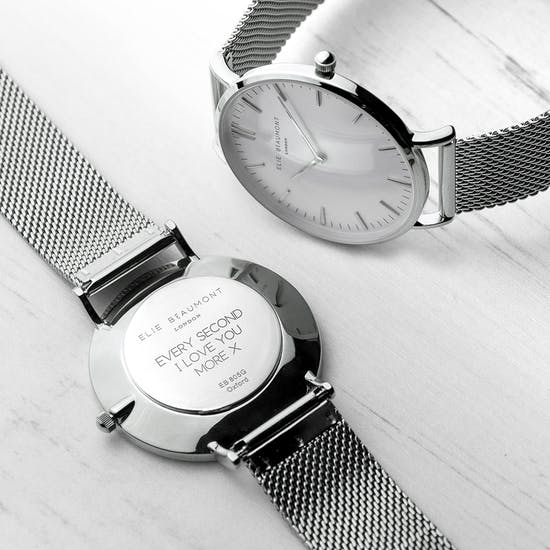 Personalised Metallic Mesh Watch