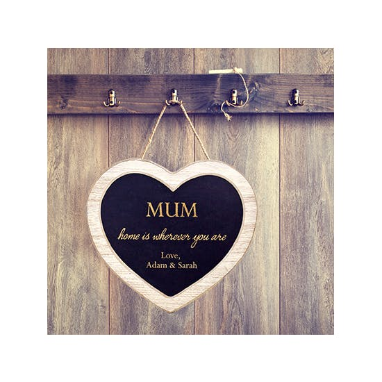 Personalised 'Mum' Chalkboard Heart