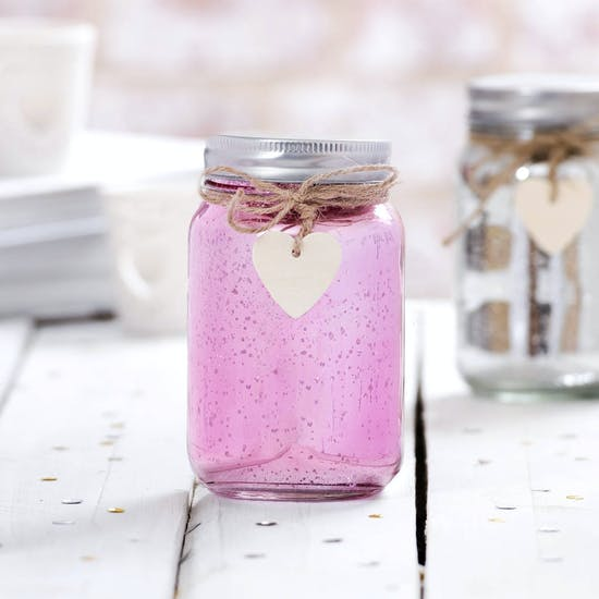 Personalised Night Light LED Sparkle Jar