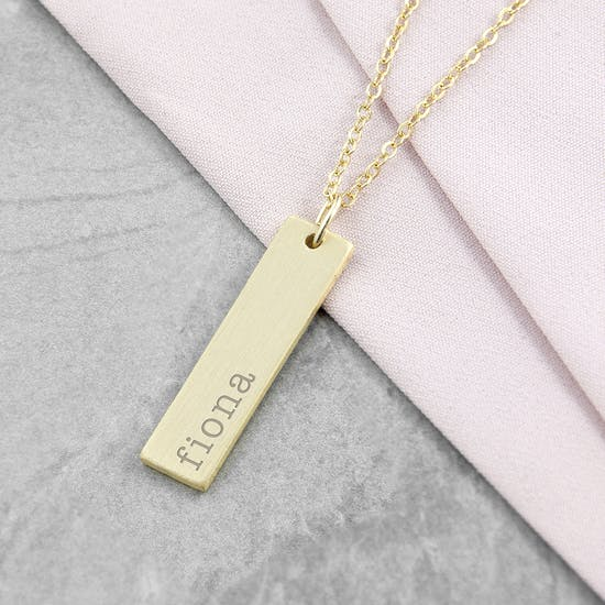 Personalised Name Bar Necklace