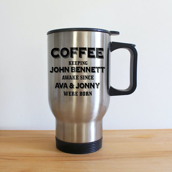 Personalised ' New Parent ' Insulated Mug