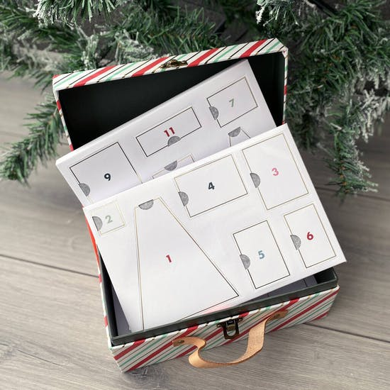 Personalised North Pole Wooden Advent Calendar