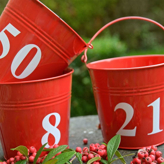 RED NUMBER BUCKETS