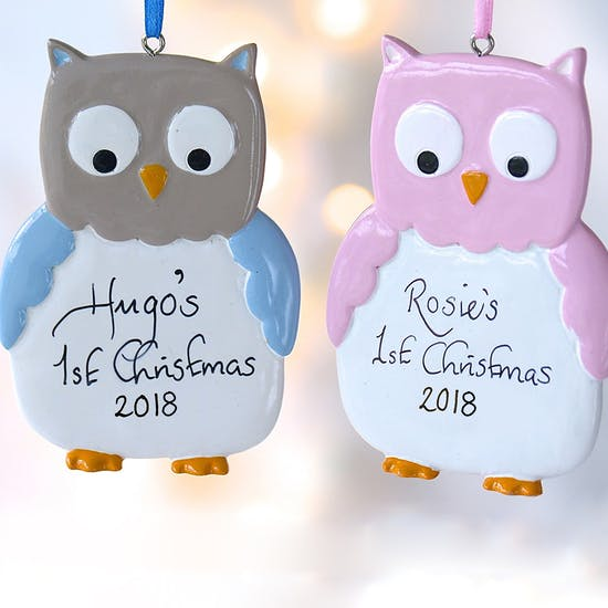Personalised Owl Hanging Decoration