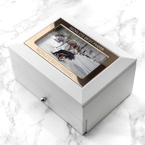 Personalised Luxury White Jewellery Box