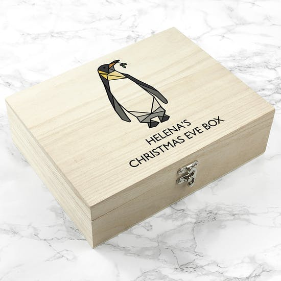 Personalised Penguin Christmas Eve Box