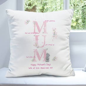 Personalised Pink Letter MUM Cushion
