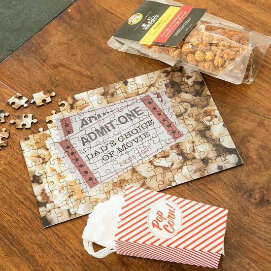 Personalised Popcorn And Chill Jigsaw Puzzle