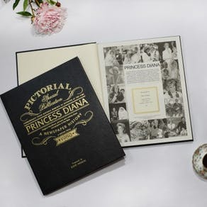 Personalised Princess Diana Leather Biography Book