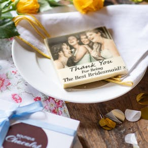 Edible Bridesmaid Printed Chocolate Photo