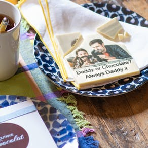 Personalised Edible Printed Fathers Day Chocolate
