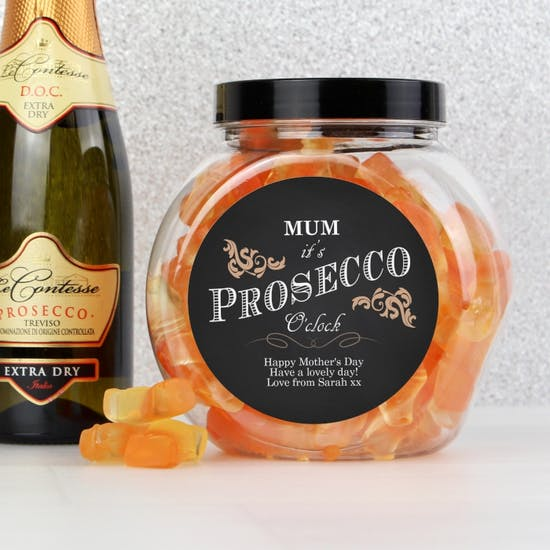 Personalised Prosecco gummy Sweets