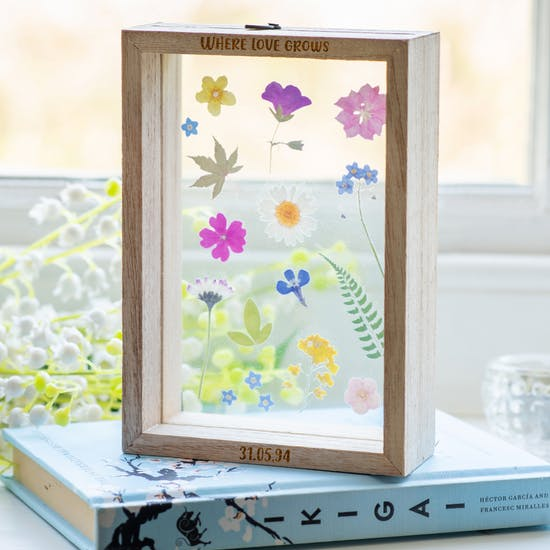 Personalised Pressed Flower Frame