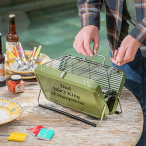 Personalised Portable Briefcase Barbecue