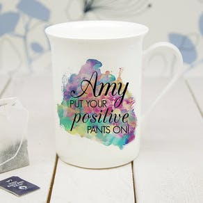 Personalised Positivity Mug