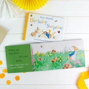 Personalised Peter Rabbit Birthday Book