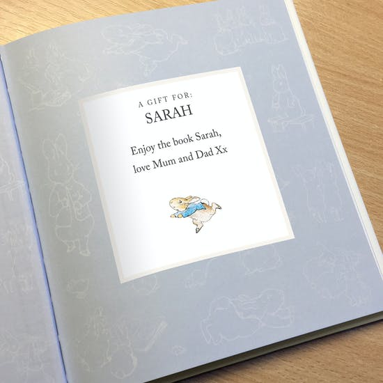 Personalised Tale Of Peter Rabbit Gift Boxed Book
