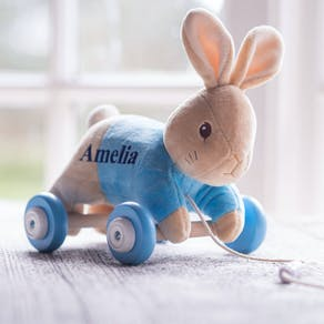 Personalised Peter Rabbit Pull A long Toy