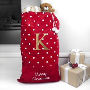 Personalised Red Big Letter Sack