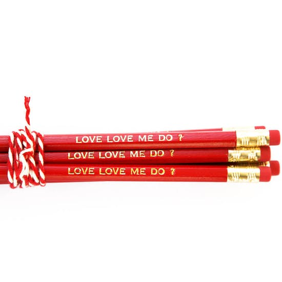 Personalised Red And Gold Gift Boxed Pencils