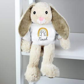 Personalised Rainbow Bunny Teddy