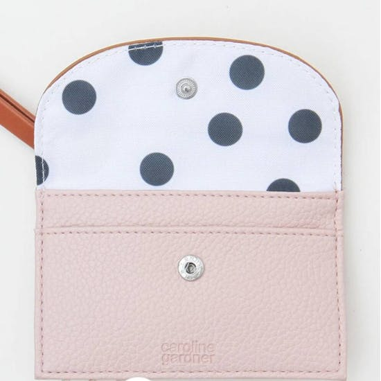 Personalised Rose Gold & Pink Card Purse