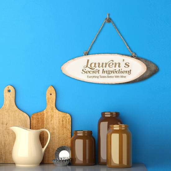 Personalised 'Secret Ingredient' Wooden Sign