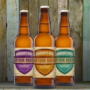 Personalised Set Of Three Beers For Grandad / Dad