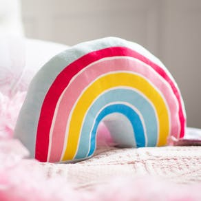 Personalised Soft Rainbow Cushion