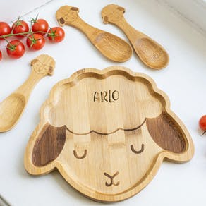 Personalised Sheep Bamboo Plate