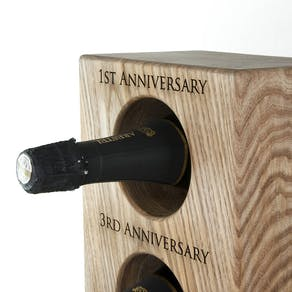 Personalised Solid Oak Wine Rack