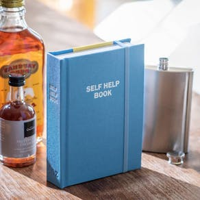 Personalised Self Help Book With Hidden Flask