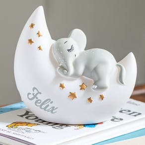 Personalised Sleeping Elephant Night Light