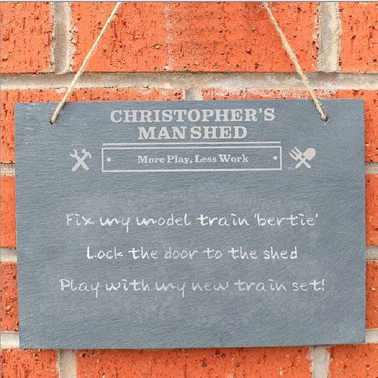 Personalised Slate Man Shed Sign