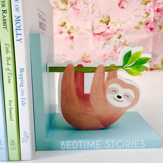 Personalised Sloth Bookends
