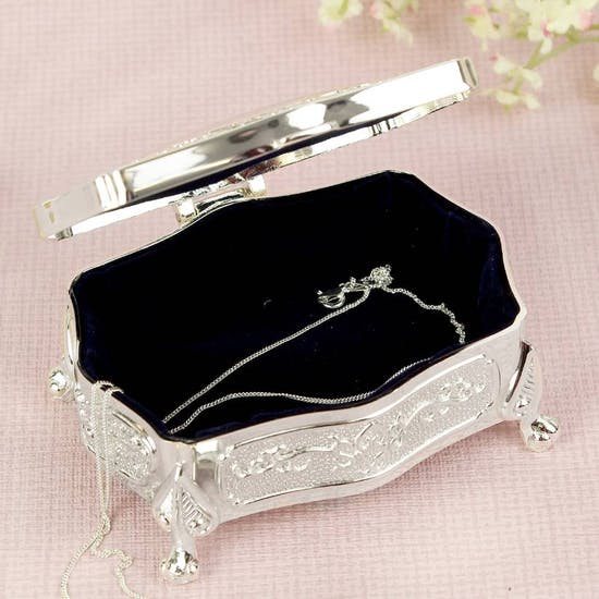 Personalised Silver Keepsake Box