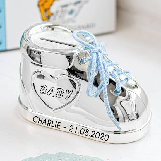 Personalised Silver Plated Babies Shoe