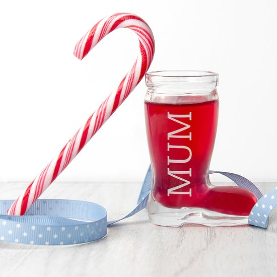 Personalised Santa Boot Shot Glass